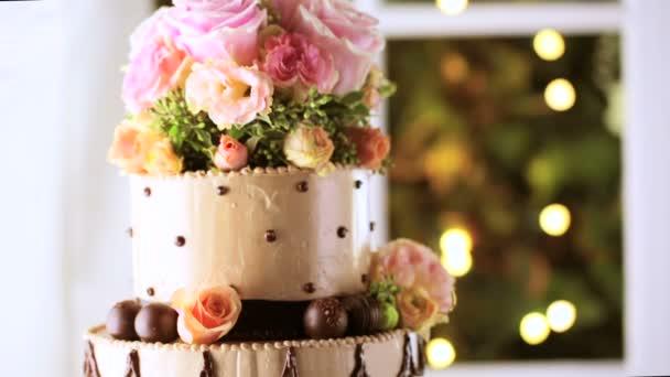 svatební dort zblízka
