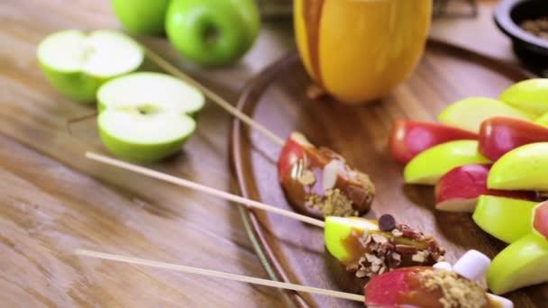 fresh caramel apple slices