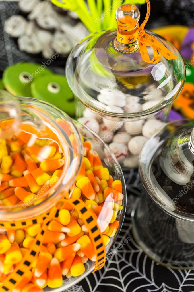 Halloween Traktaties.Verscheidenheid Van Snoepjes Voor Halloween Traktaties