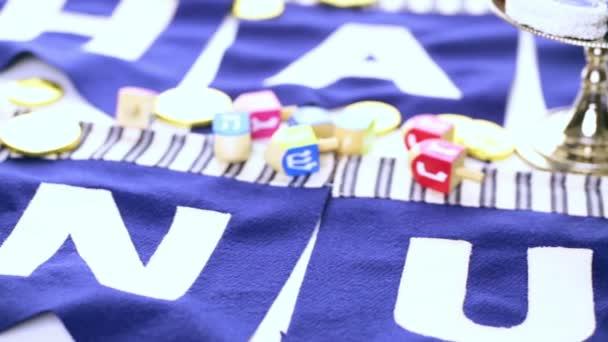 Colorful Hanukkah dreidels