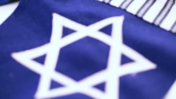 Stitched Star of David on blue flag