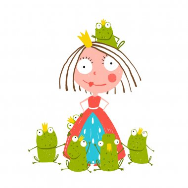Princess and Many Prince Frogs