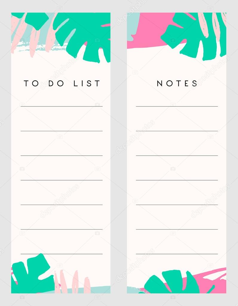 Notas y lista de plantillas — Vector de stock © ivaleks #123482624