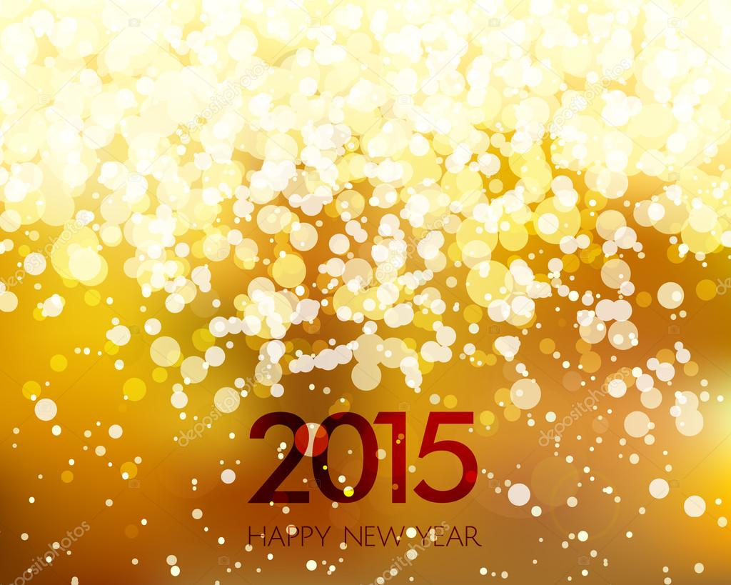 abstract gold new year background stock vector