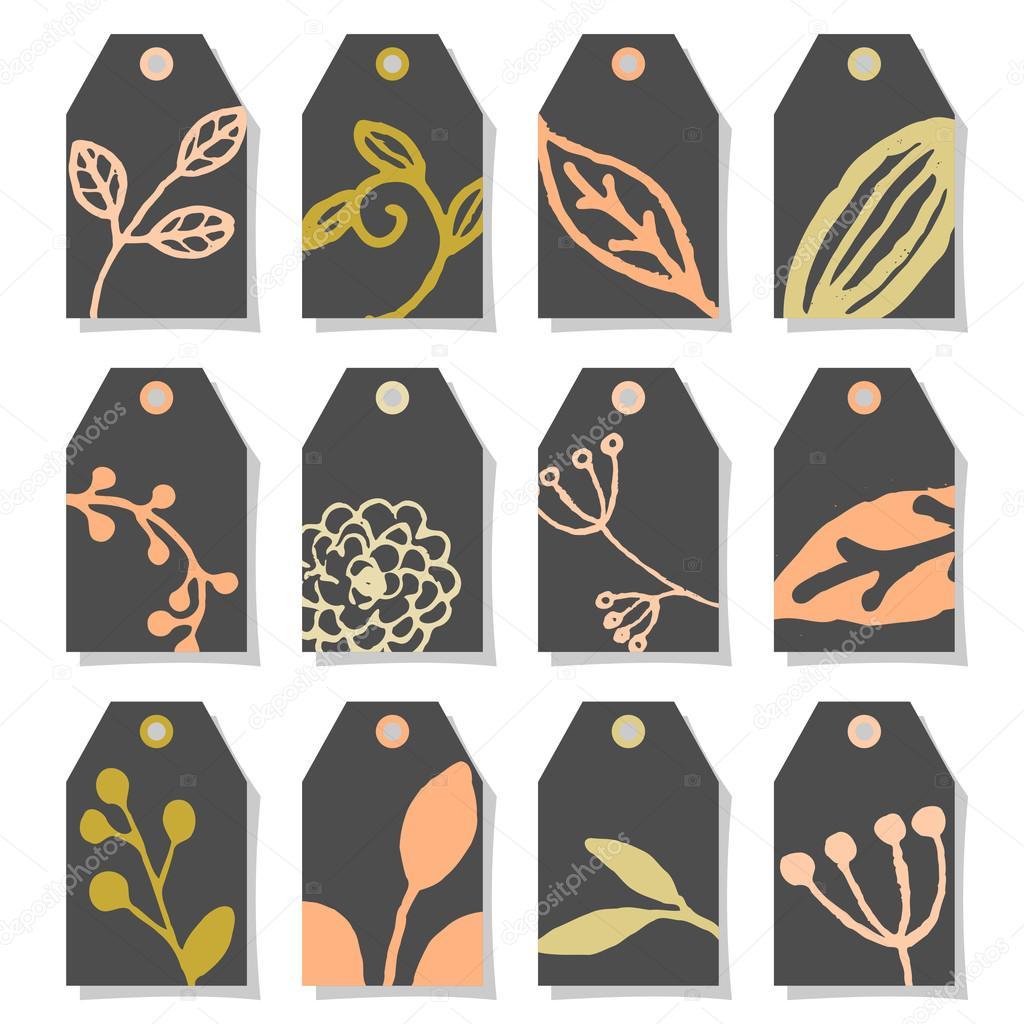 Floral Design Chalkboard Labels