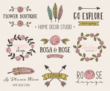 Hand Drawn Vintage Design Elements