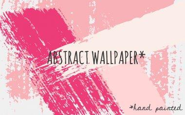 Abstract Brush Strokes Wallpaper Design