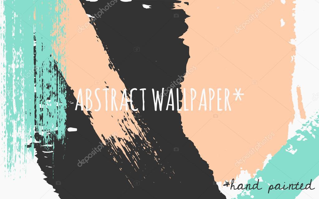 Abstract Brush Strokes Wallpaper Design Stock Vector C Ivaleks 70201131