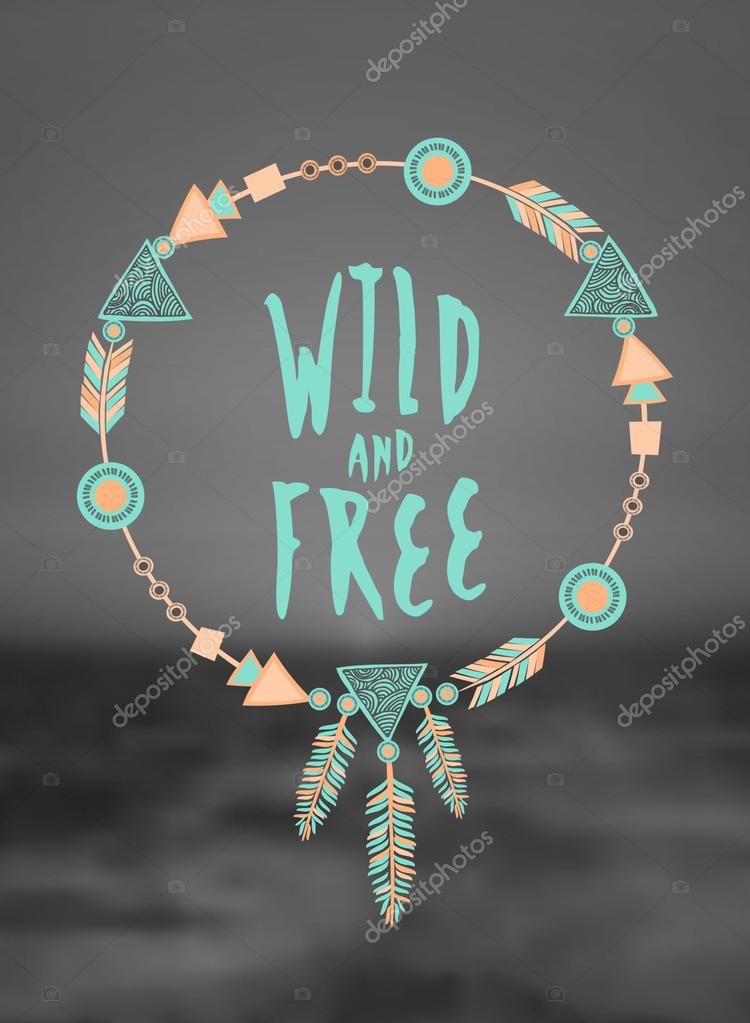 Wild and Free Hand Lettered Design
