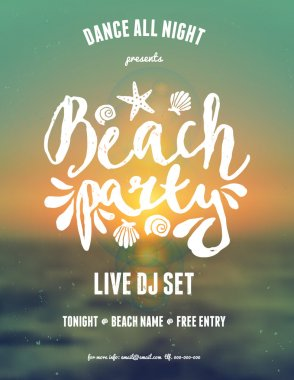 Abstract Typographic Summer Flyer Design