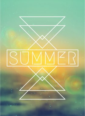 Abstract Geometric Summer Design