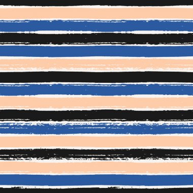 Hand Drawn Stripes Seamless Pattern