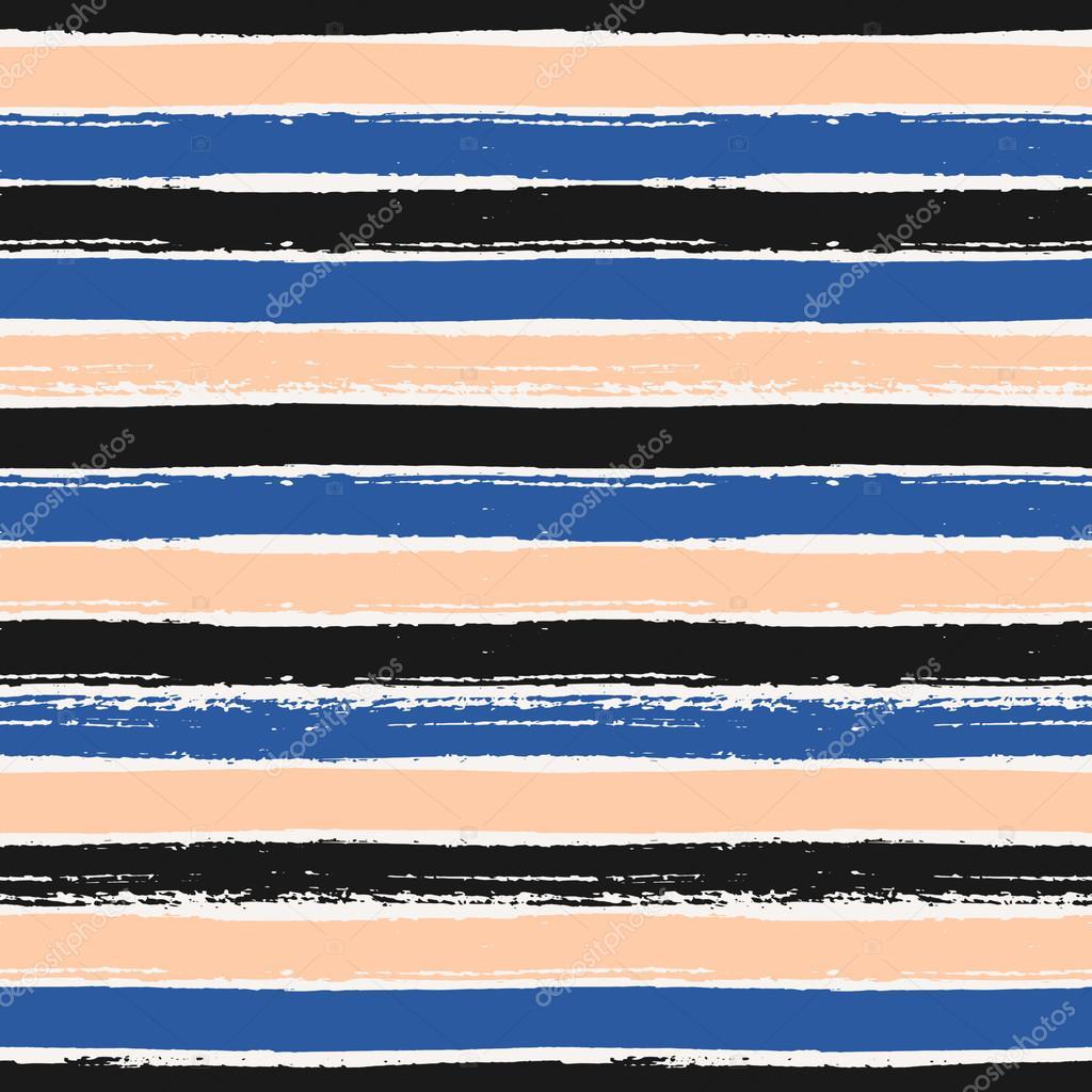 Hand Drawn Stripes Seamless Pattern