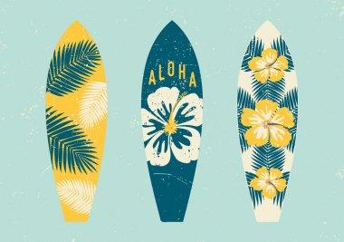 Tropical Design Surfboards Set
