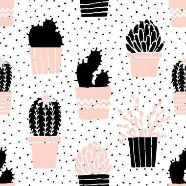 Hand Drawn Cactuses Pattern