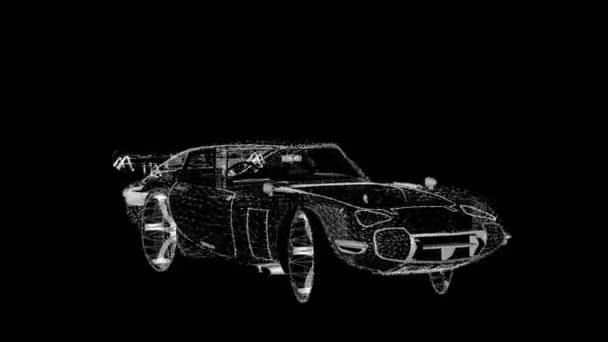 Wireframe sports car tanimation