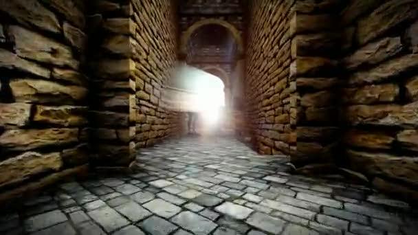 Mystické duchové v polorozpadlém hradu