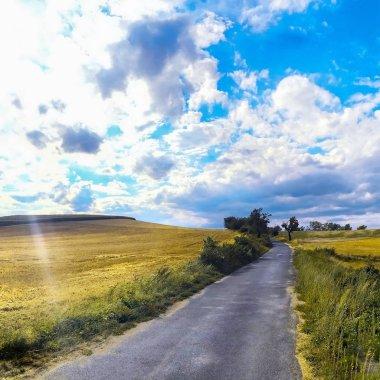 Extreme panoramic landscape in Sudety range, Poland