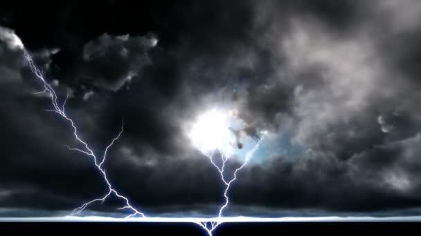 Noční Panorama silné blesky