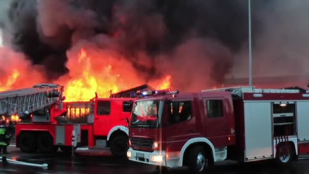 Velký požár v městě