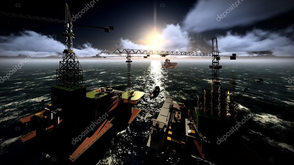 футбол на нефтедобывающей платформе площадка фото много интересного, оригинального