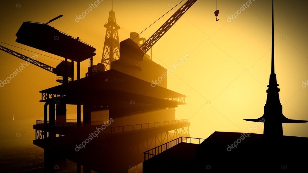 Oil rig  platform