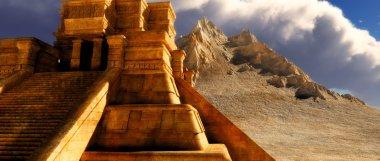 Sairs of Mayan temple