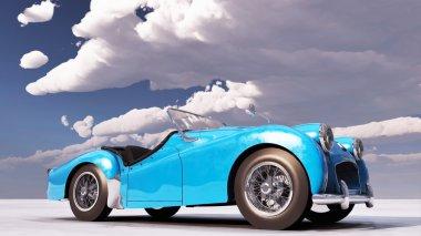 Triumph TR car stands on ground