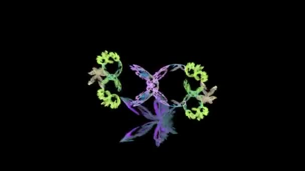 Symmetrical flower - fractal art design
