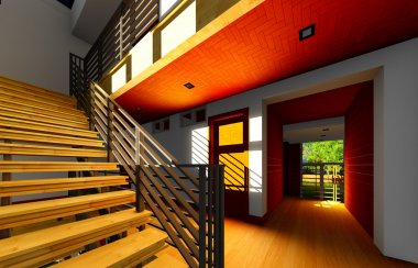 Modern staircase - interior