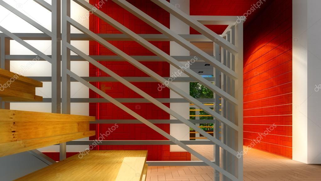 Moderne trap interieur u stockfoto dariostudios