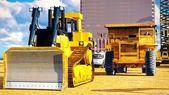 Různé stroje na staveništi