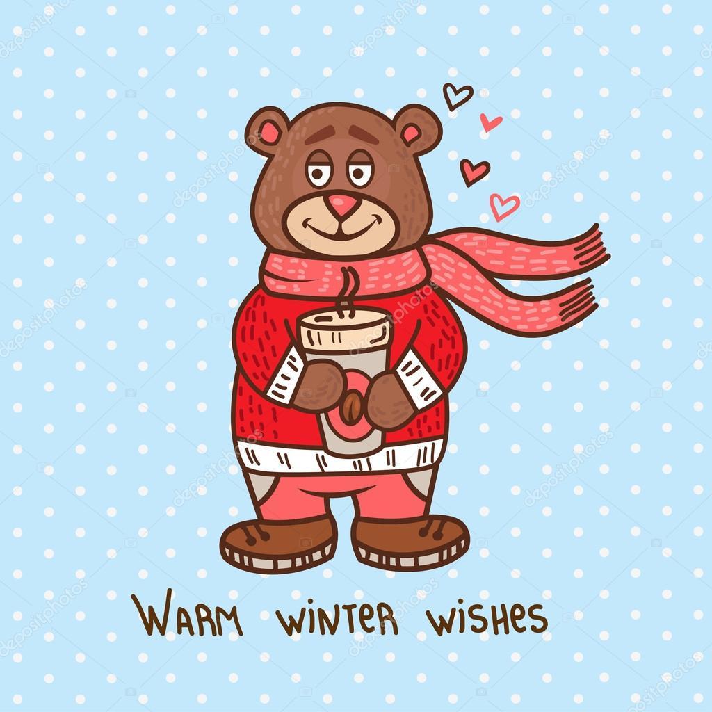 lindo oso de peluche de Navidad — Archivo Imágenes Vectoriales ...