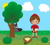 pohádkové postavy - Vlk a holčička