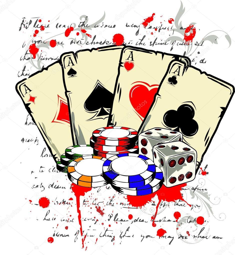Покерные фишки рисунок карандашом