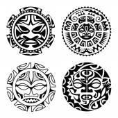 Fényképek A polinéz tetoválás készlet