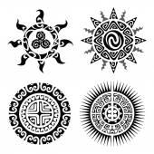 Fényképek Hagyományos Maori Taniwha tetoválás