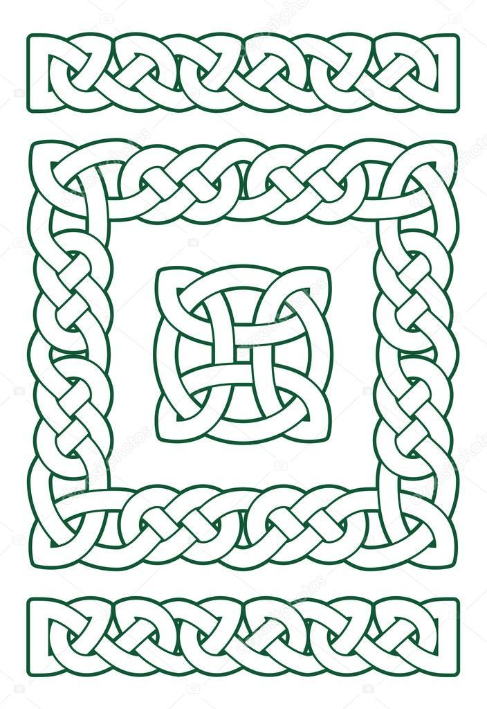 Conjunto de nudos celtas — Vector de stock © misima #98519420