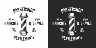 Vector illustration of a set of vintage barber shop logo. icon