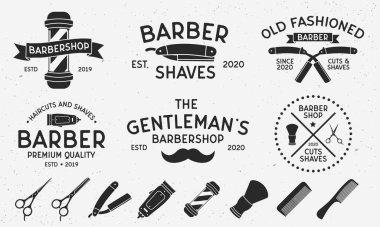 Barber shop logo, vector illustration icon