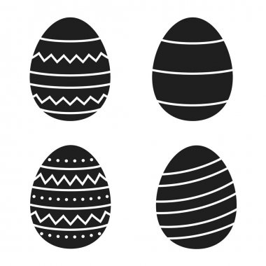 Set of easter eggs. vector illustration icon