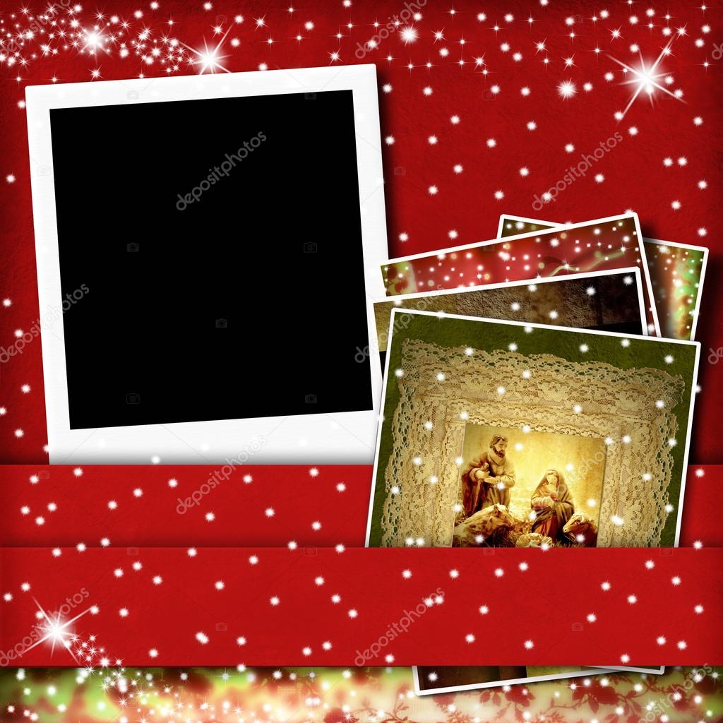 Christmas greeting card picture frame — Stock Photo © Risia #57035369