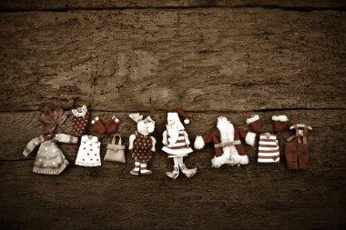 Santa Claus Christmas vintage rustic background