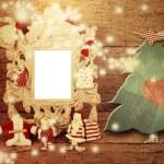 사진 프레임 크리스마스 트리 나무 배경 — 스톡 사진 © Risia #60745093