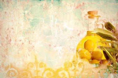 Olive oil grunge background