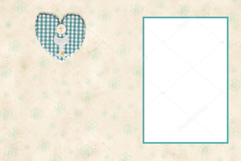 Mi tarjeta de marco de foto de primera comunión — Foto de stock ...