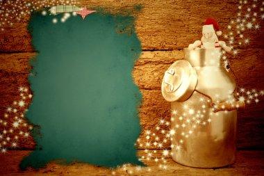 Santa Christmas card old background