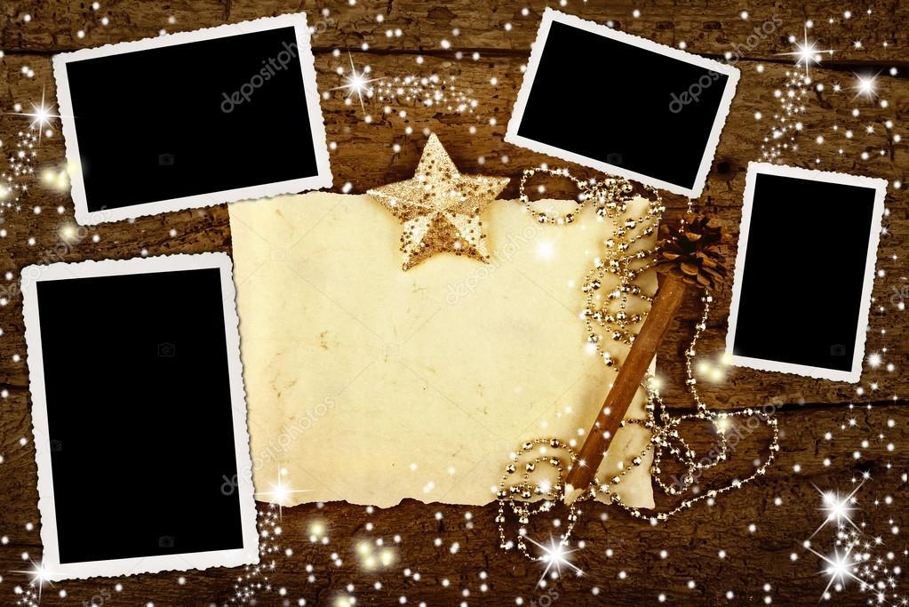 Navidad con cuatro marcos para poner fotos — Foto de stock © Risia ...