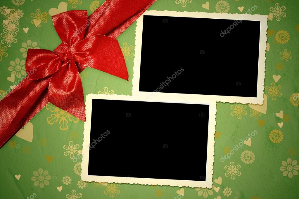 Weihnachten zwei alte leere Bilderrahmen — Stockfoto © Risia #89875496