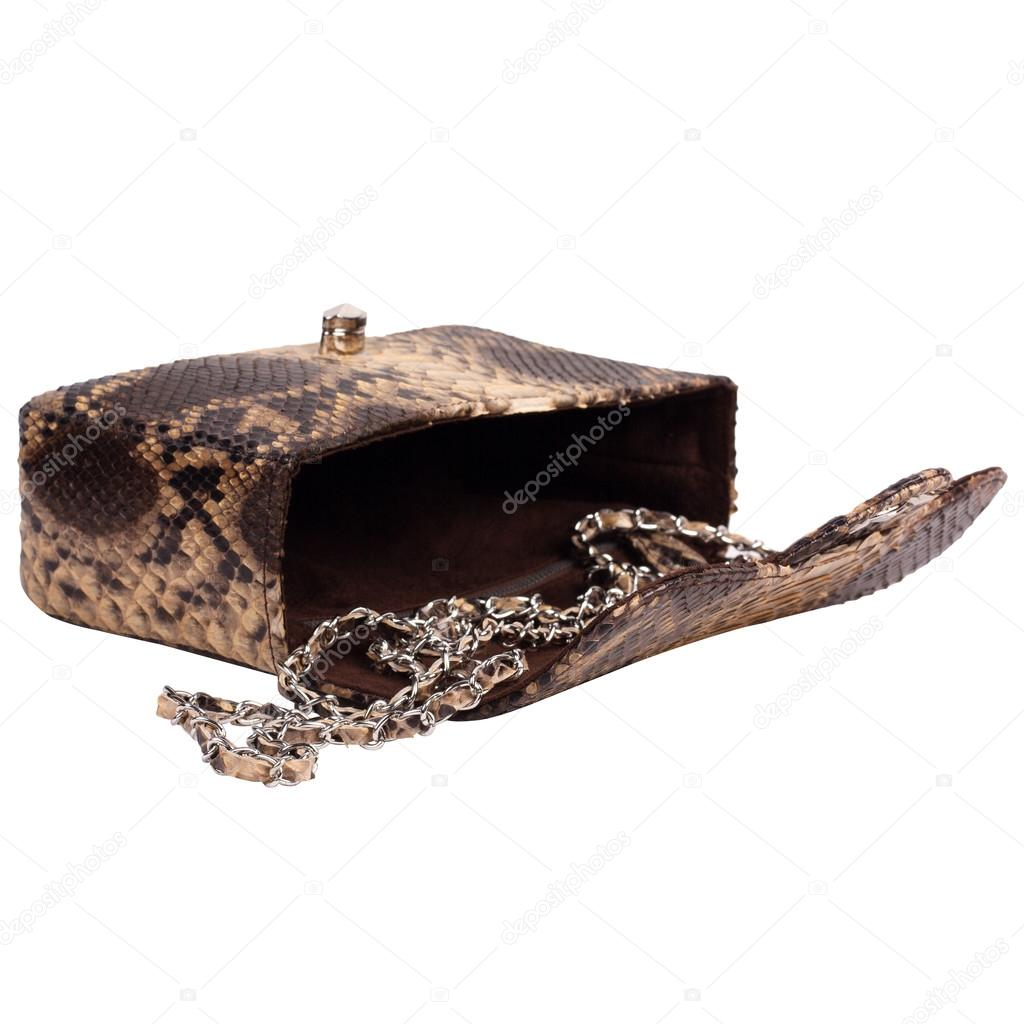 719ace9946 Μόδα εξωτικών δέρματος φιδιού χειροποίητο πορτοφόλι τσάντα τσάντα —  Φωτογραφία Αρχείου
